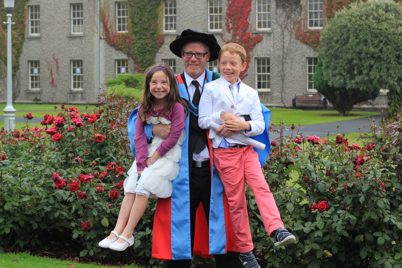 Prof McInerney with his Niece, Quin and Nephew, Leon on Conferring Day