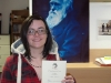 Carla with her Systematics Association prize