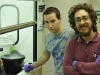 Lahcen and Davide in the lab